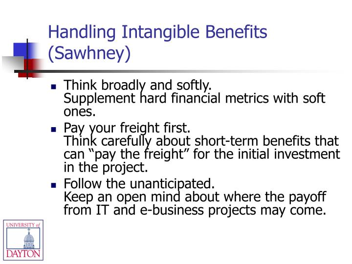 Handling Intangible Benefits (Sawhney)