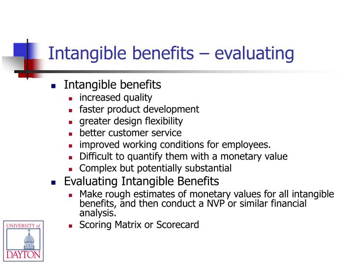 Intangible benefits – evaluating