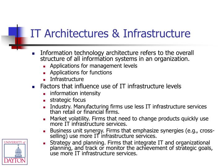 IT Architectures & Infrastructure