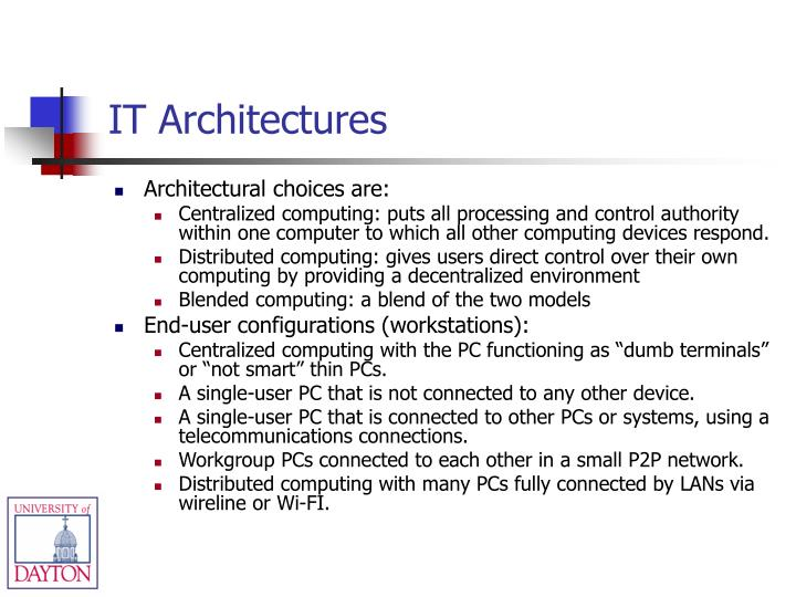 IT Architectures