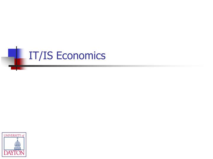IT/IS Economics