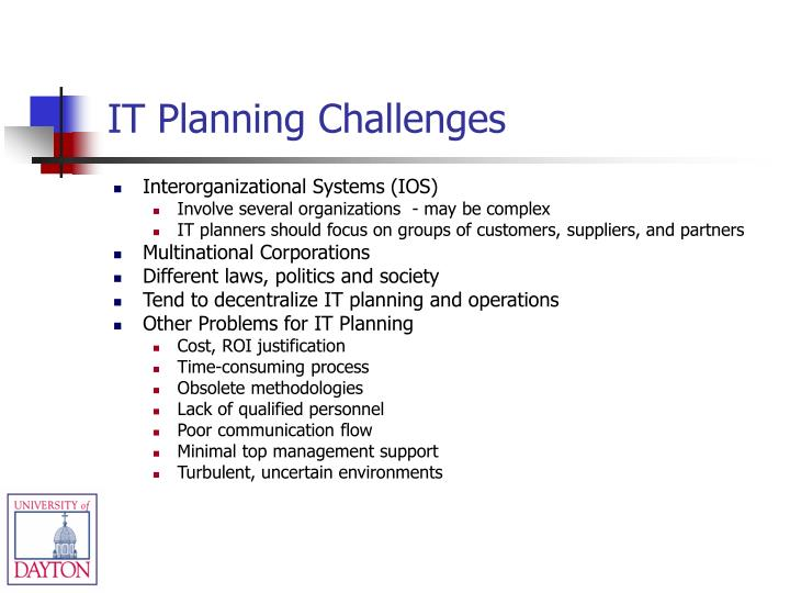 IT Planning Challenges