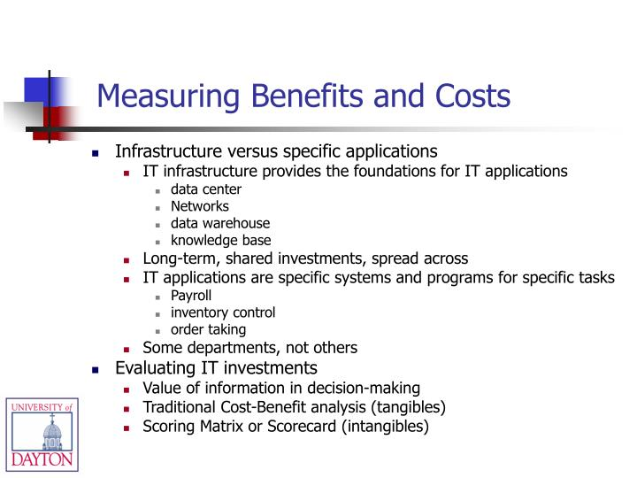 Measuring Benefits and Costs