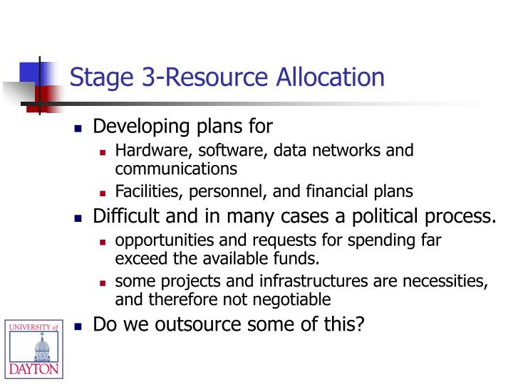 Stage 3-Resource Allocation