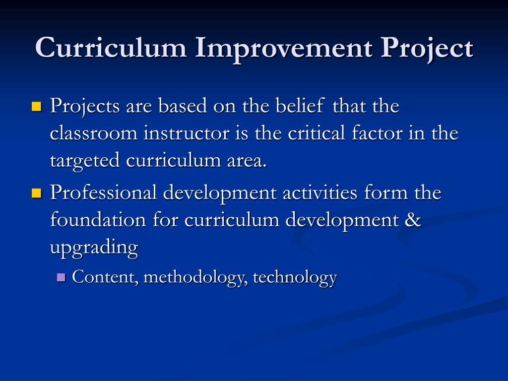 Curriculum Improvement Project