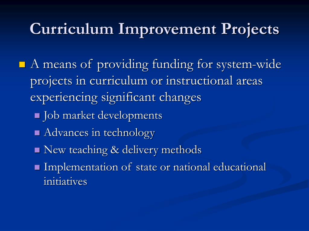 Curriculum Improvement Projects