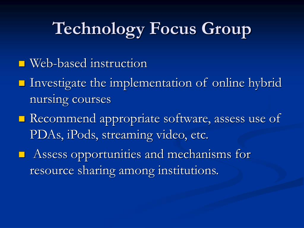 Technology Focus Group