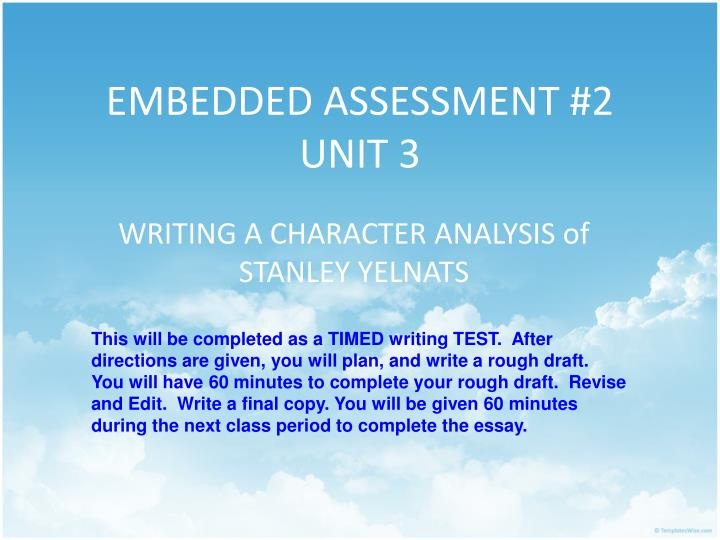 Embedded assessment 2 unit 3
