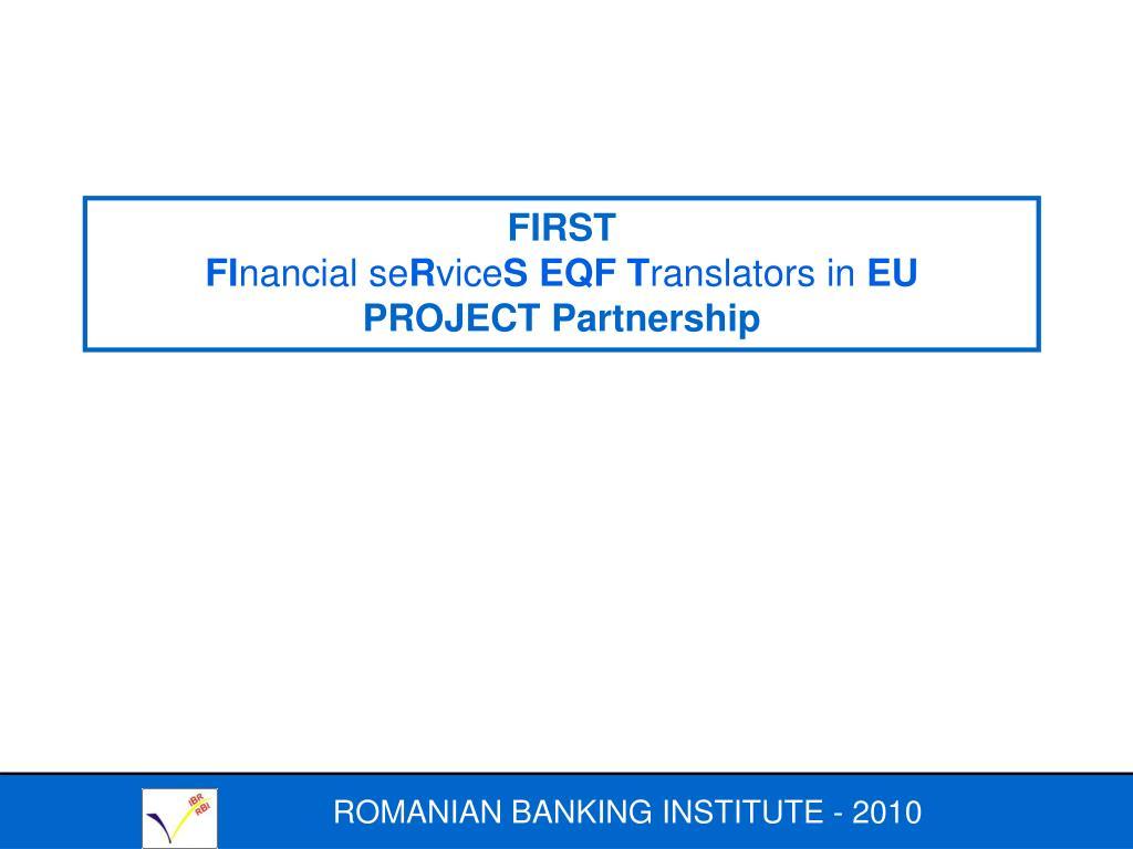 ROMANIAN BANKING INSTITUTE -
