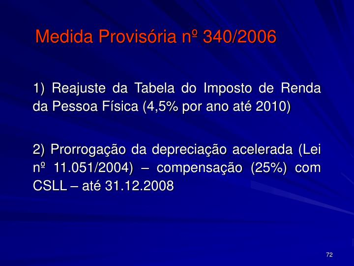 Medida Provisória nº 340/2006