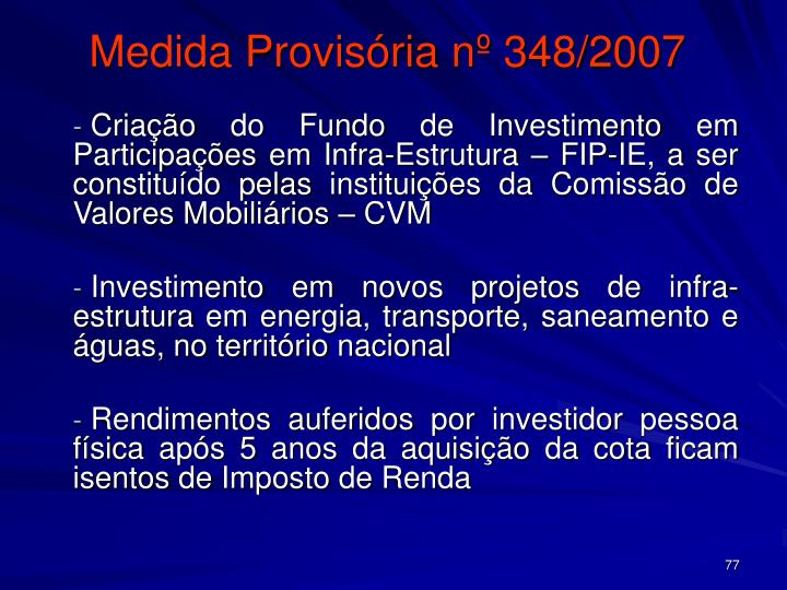 Medida Provisória nº 348/2007