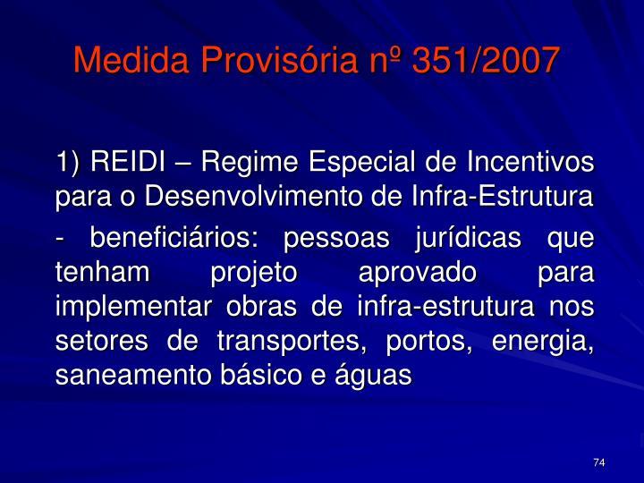 Medida Provisória nº 351/2007