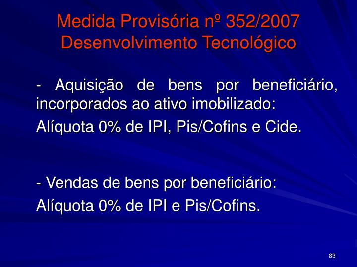 Medida Provisória nº 352/2007