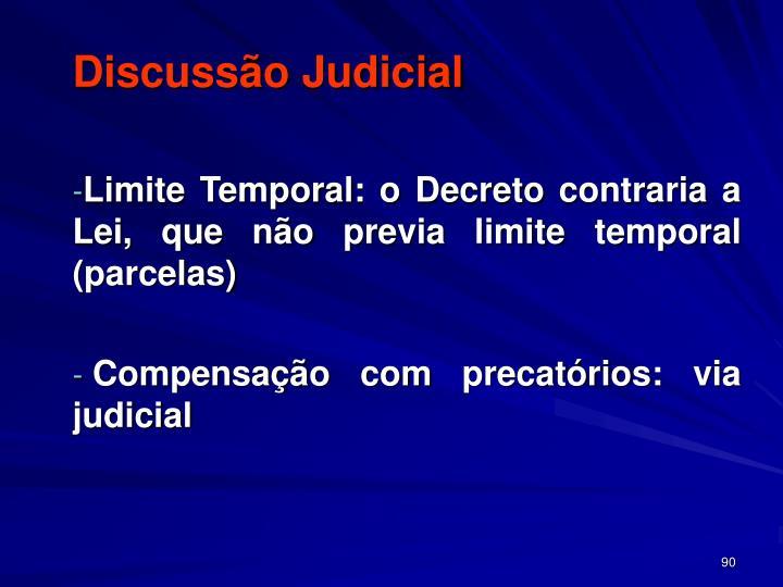 Discussão Judicial