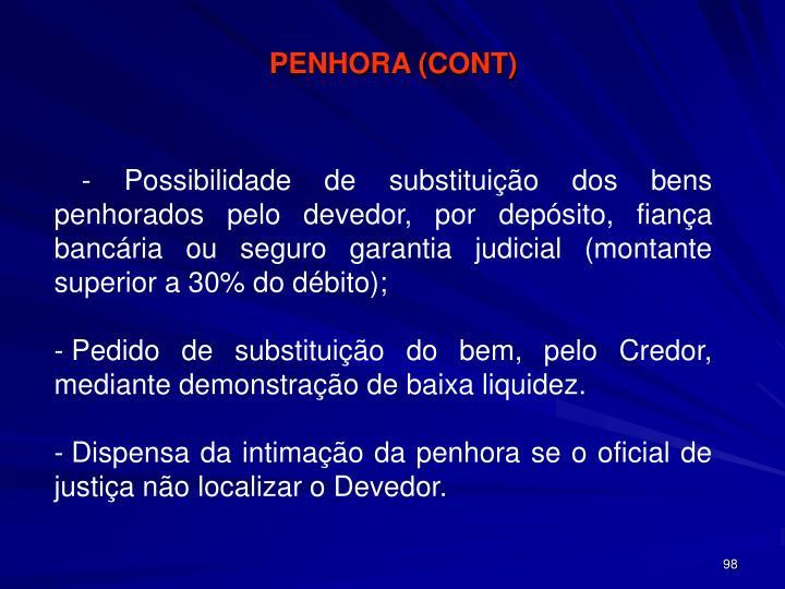 PENHORA (CONT)