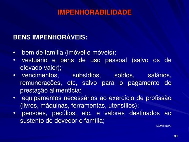 IMPENHORABILIDADE