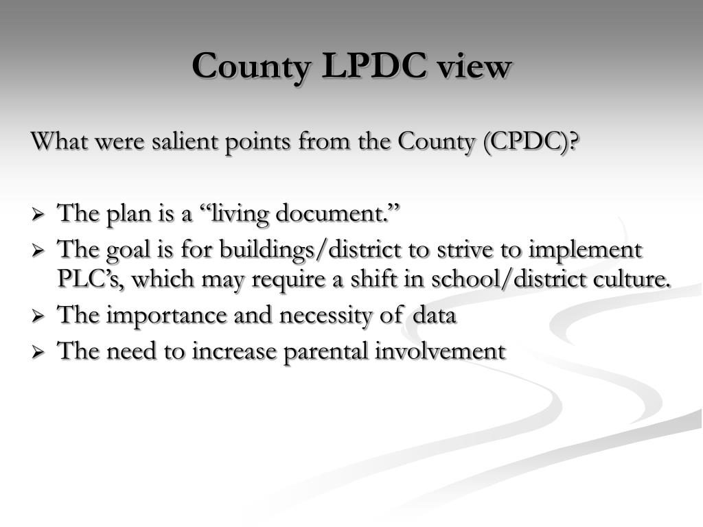 County LPDC view