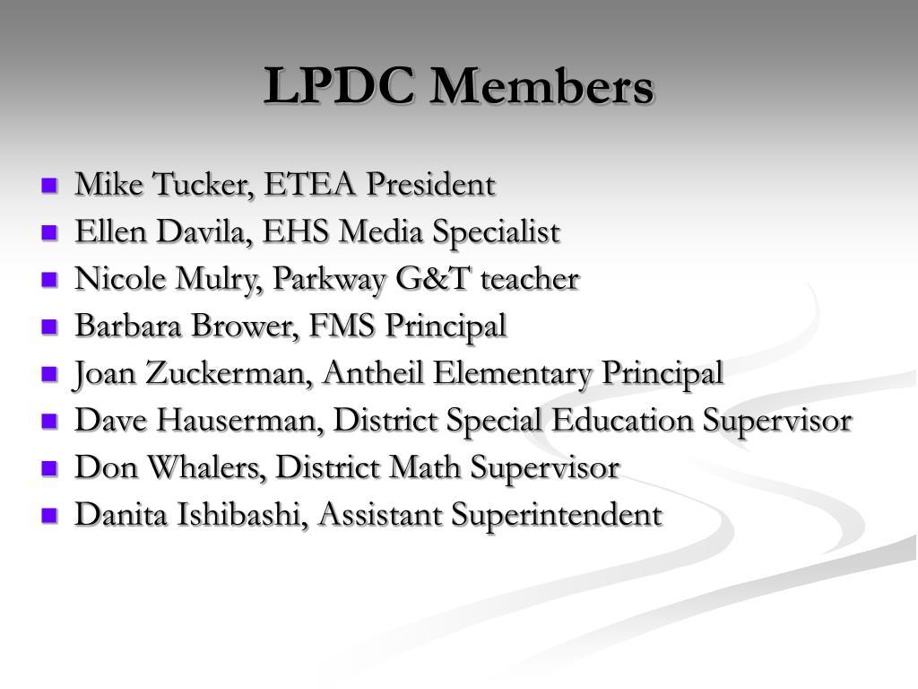 LPDC Members