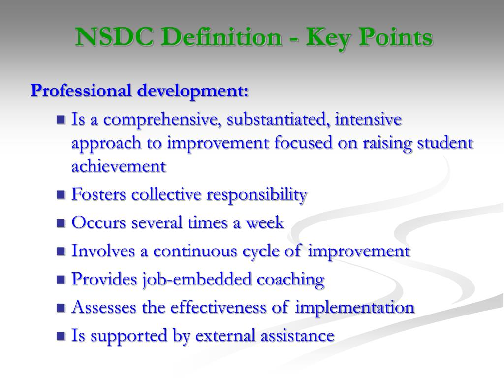 NSDC Definition - Key Points