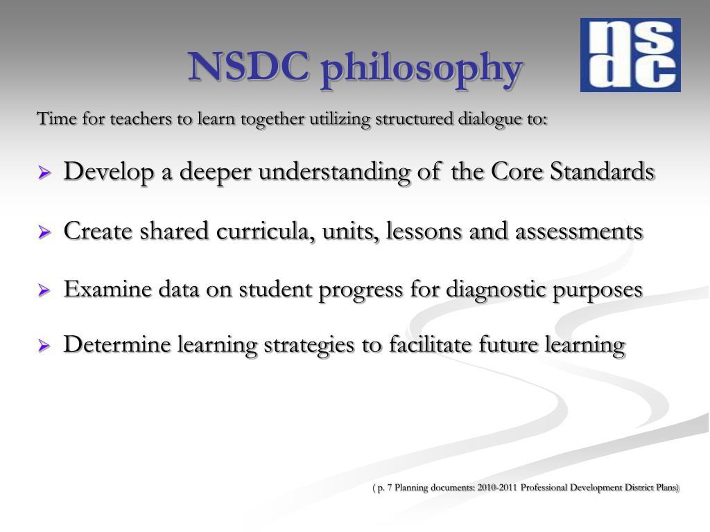 NSDC philosophy