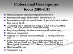 professional development focus 2010 2011