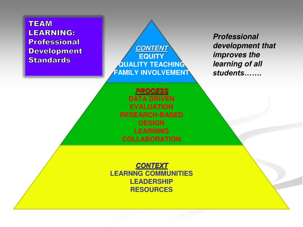 TEAM LEARNING: Professional Development Standards