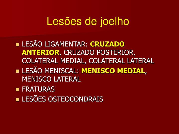 Lesões de joelho