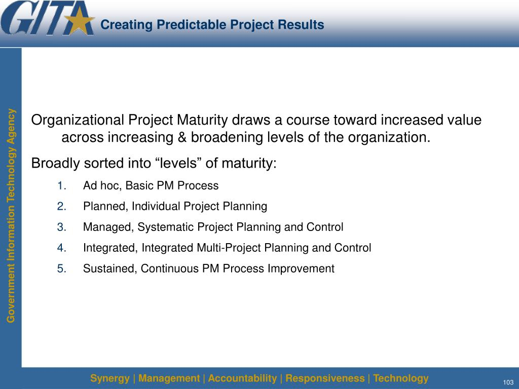 Creating Predictable Project Results