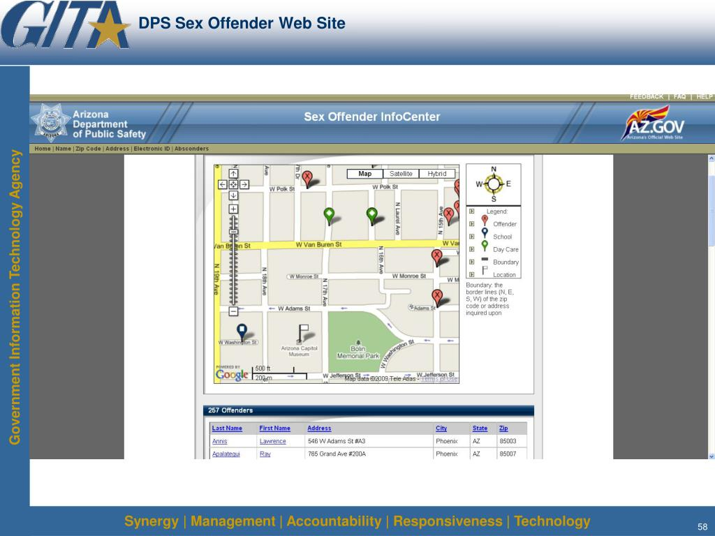 DPS Sex Offender Web Site