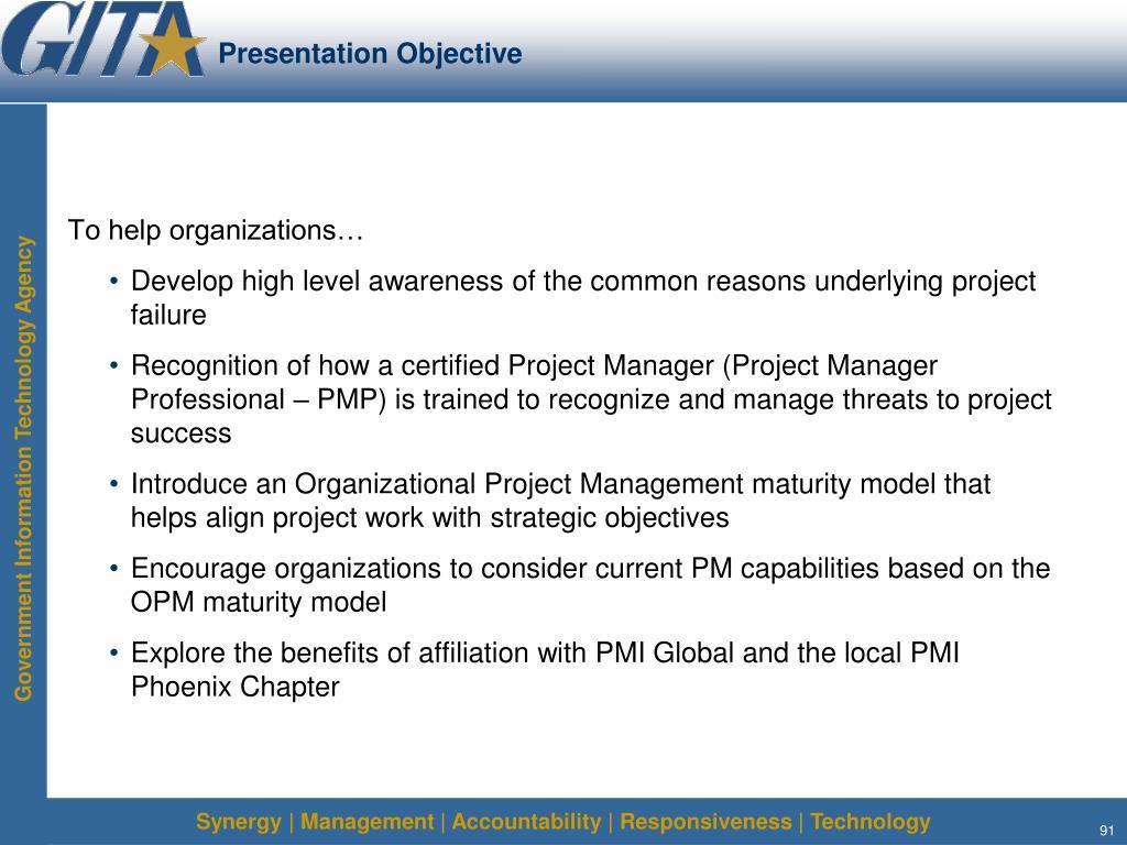 Presentation Objective