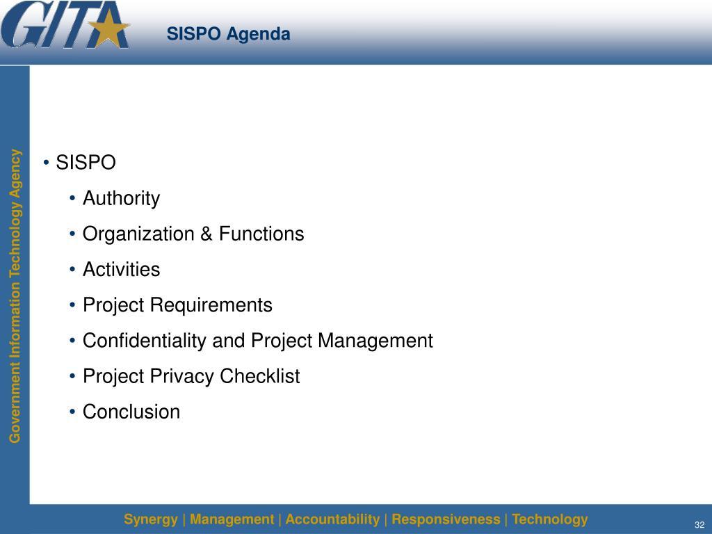 SISPO Agenda
