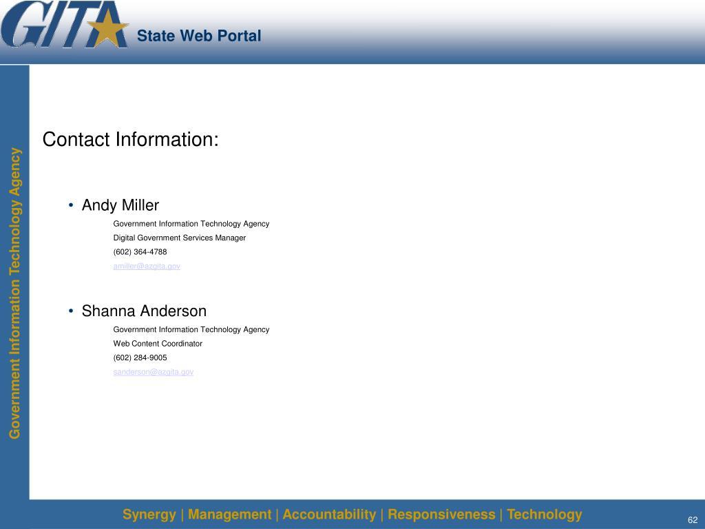 State Web Portal