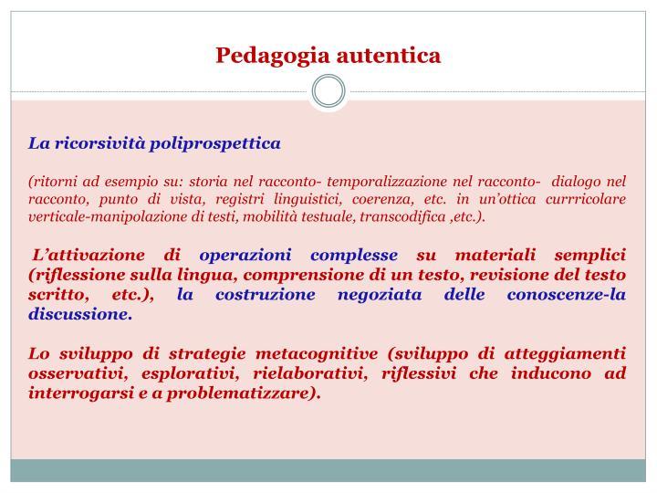 Pedagogia autentica