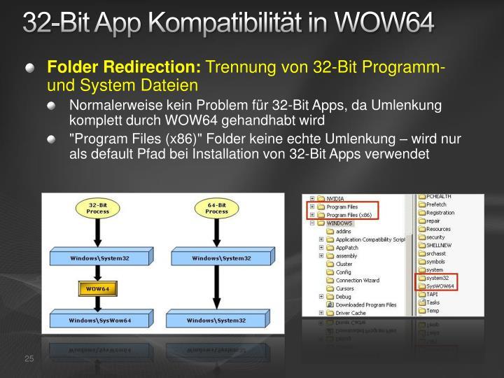 32-Bit App Kompatibilität in