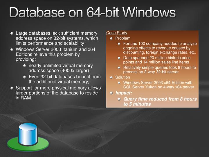Database on 64-bit Windows