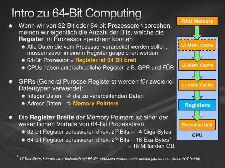 Intro zu 64-Bit Computing
