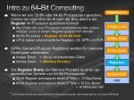 intro zu 64 bit computing