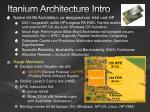itanium architecture intro