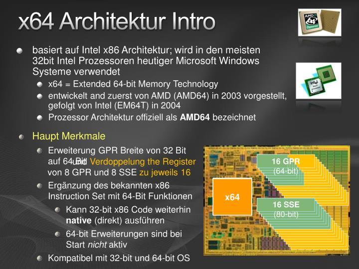 x64 Architektur Intro
