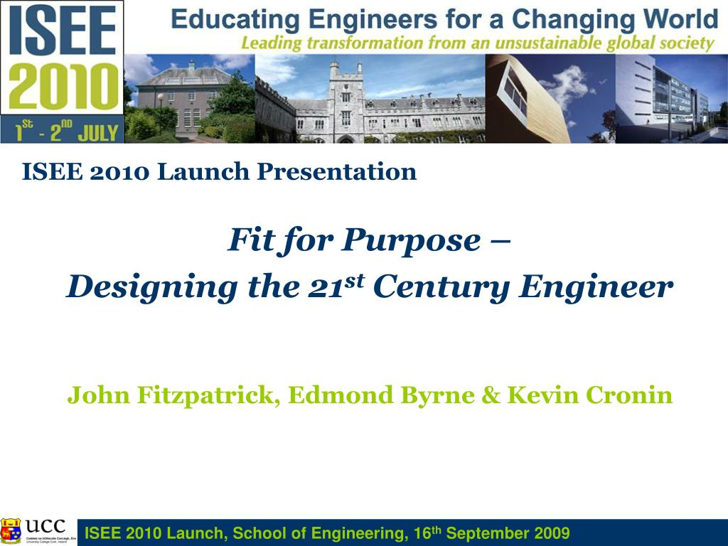 ISEE 2010 Launch Presentation