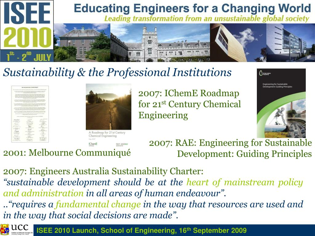 Sustainability & the Professional Institutions