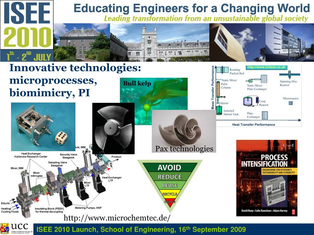 Innovative technologies: microprocesses, biomimicry, PI