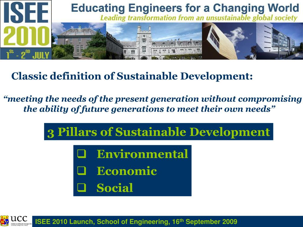 3 Pillars of Sustainable Development