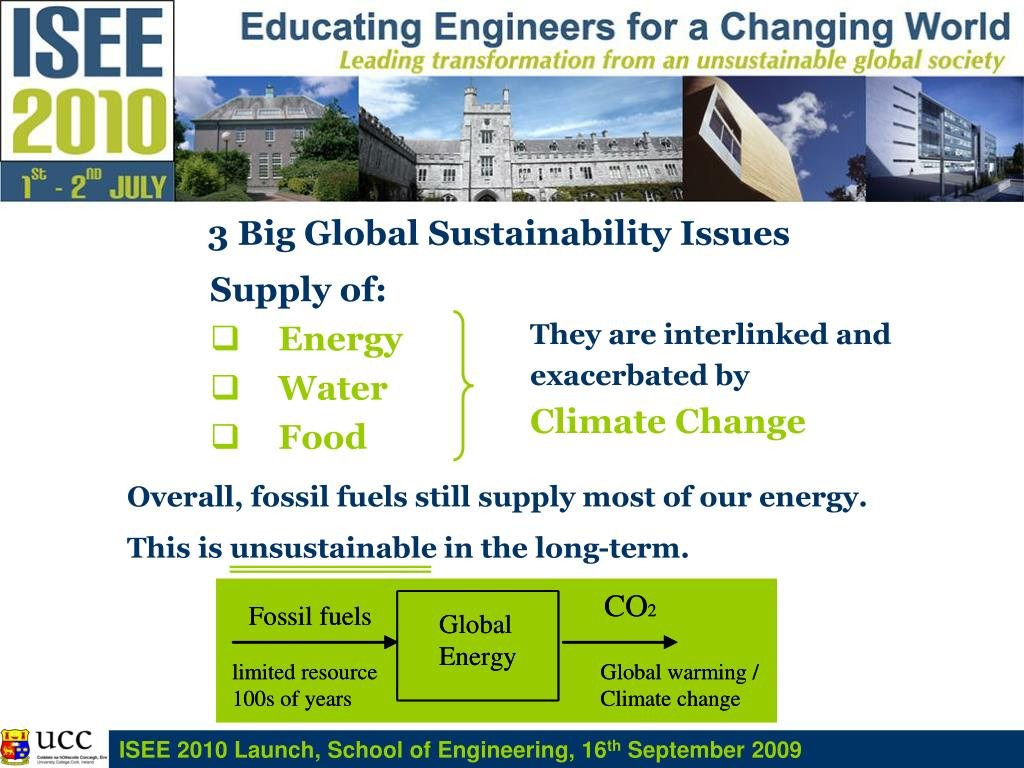 3 Big Global Sustainability Issues
