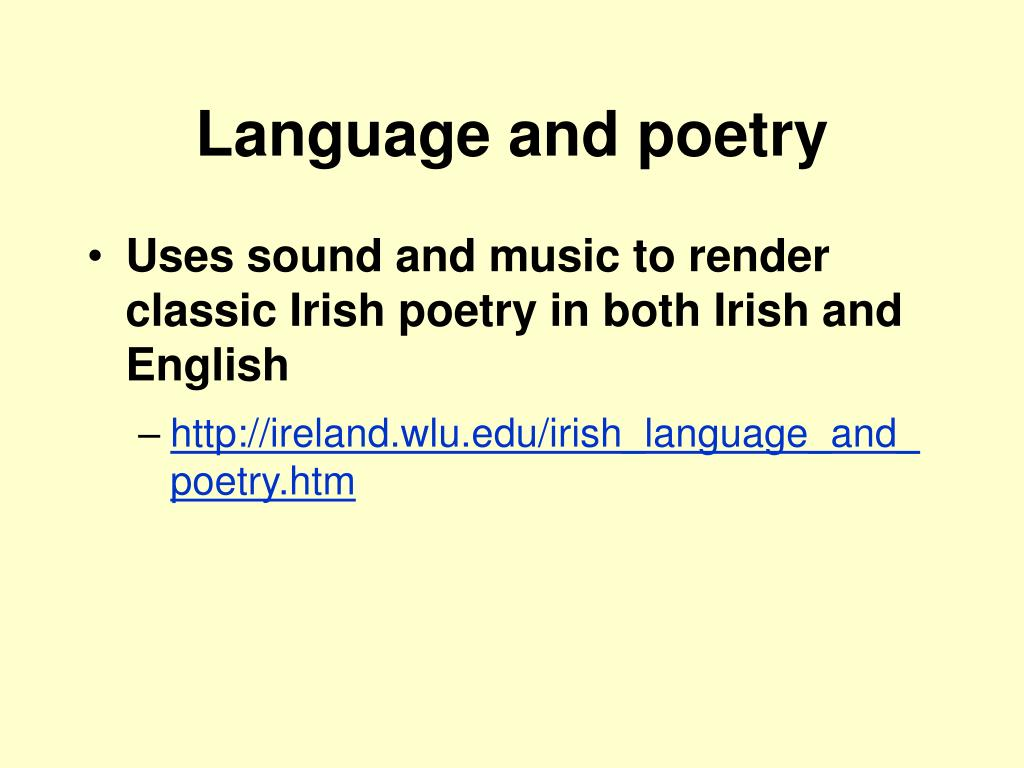 Language and poetry