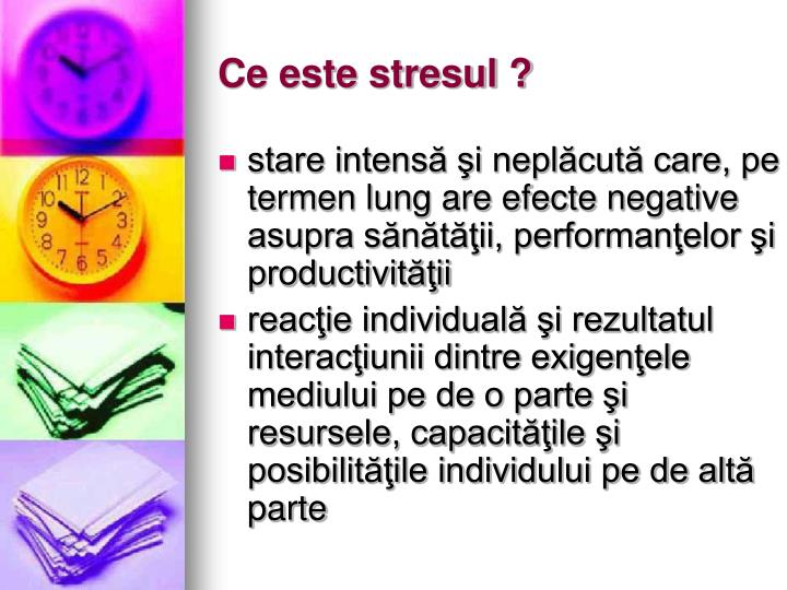 Ce este stresul ?