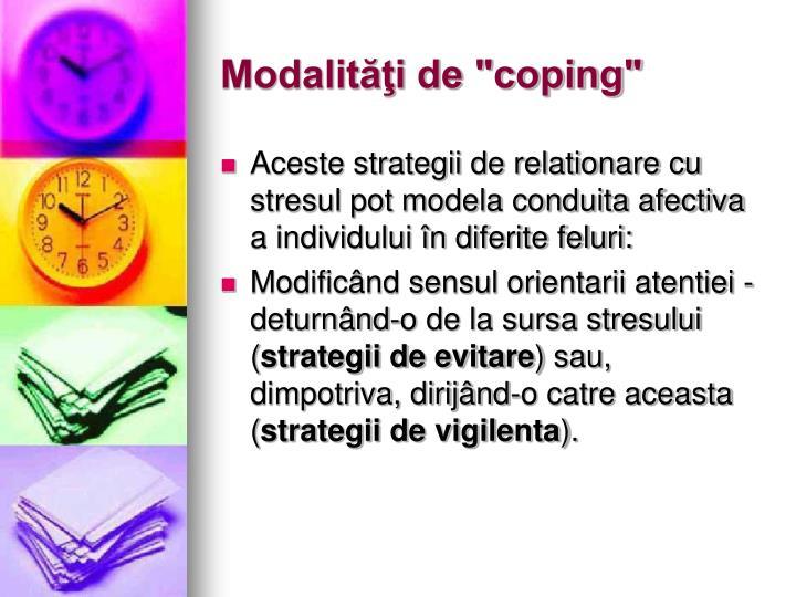 """Modalităţi de """"coping"""""""