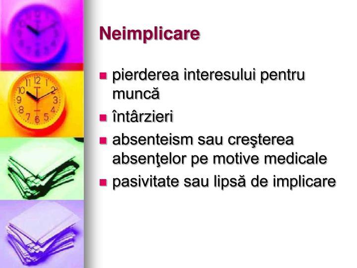 Neimplicare