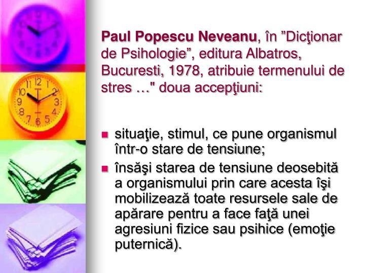 Paul Popescu Neveanu