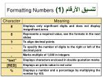 1 formatting numbers